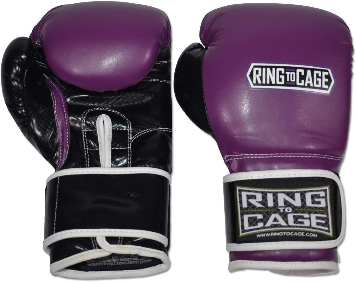 Gym Training Gloves - Purple/Black