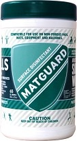 Matguard ¨ XL Surface Wipe for Sports Equipment 65ct
