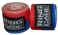 Handwraps Mexican Style Stretchable- Red/Blue - Super Long 220