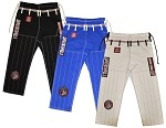 ROLL HARD Brazilian Jiu Jitsu RipStop Gi Pants - White, Blue, Black