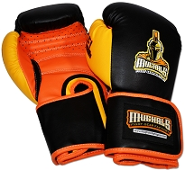 All Purpose Training Boxing Gloves, Gel-Lined + Molded-Foam, Safety-Strap