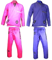 ROLL HARD BRAND Womens Brazilian Jiu Jitsu Kimonos - Pink or Purple