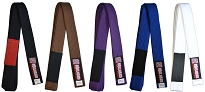 ROLL HARD Brazilian Jiu Jitsu Belts with Patch