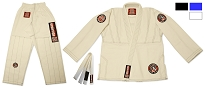 ROLL HARD Kids Brazilian Jiu Jitsu Gi - White, Blue, Black