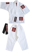 ROLL HARD Toddler Baby Jiu Jitsu Gi - White Only