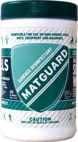 Matguard ¨ XL Surface Wipe for Sports Equipment - 65 Wipes