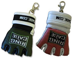 MMA Glove Key Chain - Leather