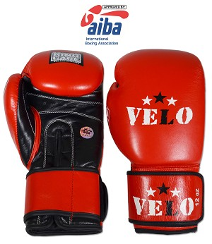 AIBA Approved Amateur Boxing Competition Gloves - Blue or Red